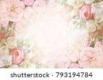 summer blossoming delicate... | Shutterstock . vector #793194784