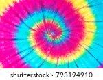 rainbow spiral tie dye pattern... | Shutterstock . vector #793194910