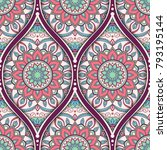 seamless pattern with ethnic... | Shutterstock .eps vector #793195144