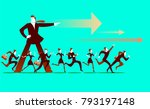 the leader shows the direction. ... | Shutterstock .eps vector #793197148