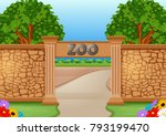 zoo in a beautiful nature | Shutterstock .eps vector #793199470