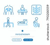 physiotherapy thin line icons... | Shutterstock .eps vector #793200559