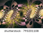 abstract fractal background.... | Shutterstock . vector #793201108