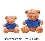 brown teddy bear wear blue...   Shutterstock . vector #793214368