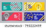 flyer brochure design  template ... | Shutterstock .eps vector #793222459