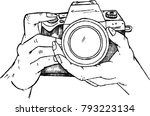 camera  photographer  sketch | Shutterstock .eps vector #793223134