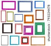 multi colored picture frames... | Shutterstock . vector #793224478
