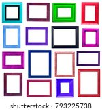 picture frames collection | Shutterstock . vector #793225738
