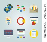 icon set about marketing. with... | Shutterstock .eps vector #793226254