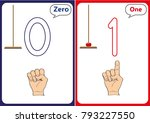learning the numbers 0 10 ... | Shutterstock .eps vector #793227550