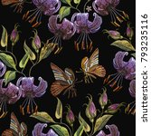 Embroidery Tiger Lillies And...
