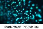 blue bokeh background. digital... | Shutterstock . vector #793235683