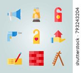 icon set about real assets.... | Shutterstock .eps vector #793243204