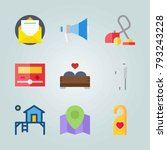icon set about real assets.... | Shutterstock .eps vector #793243228