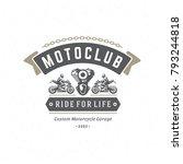 sport motorcycle logo template... | Shutterstock .eps vector #793244818