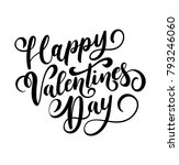 happy valentine's day greeting... | Shutterstock .eps vector #793246060