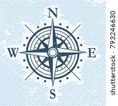 classic wind rose flat vector... | Shutterstock .eps vector #793246630