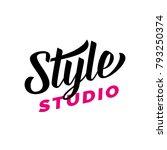 style studio lettering for logo ... | Shutterstock .eps vector #793250374