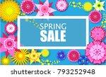 spring background of bright...   Shutterstock .eps vector #793252948