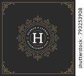 ornament logo design template...   Shutterstock .eps vector #793253908