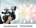 video camera with abstract... | Shutterstock . vector #793254040