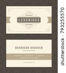 luxury business card and... | Shutterstock .eps vector #793255570