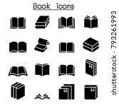 book icon set  | Shutterstock .eps vector #793261993