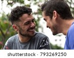 affection of a gay couple | Shutterstock . vector #793269250
