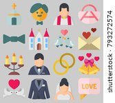 icons set about wedding. with... | Shutterstock .eps vector #793272574