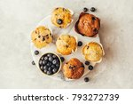 homemade muffins with... | Shutterstock . vector #793272739