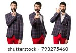 set of well dressed man making... | Shutterstock . vector #793275460