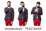set of well dressed man with... | Shutterstock . vector #793276654