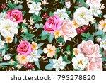 spring seamless pattern   Shutterstock .eps vector #793278820
