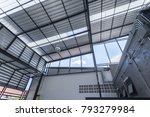 this is a steel roof and modern | Shutterstock . vector #793279984