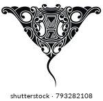 stingray tattoo in maori ethnic ... | Shutterstock .eps vector #793282108