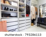 modern walk in closet with... | Shutterstock . vector #793286113
