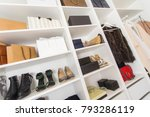 modern walk in closet with... | Shutterstock . vector #793286119