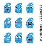 cute monsters set.  vector set... | Shutterstock .eps vector #793286938
