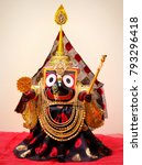 Small photo of Lord Jagannath Hindu deity Krishna from Puri Odisha India
