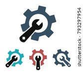 service tools icon. vector... | Shutterstock .eps vector #793297954