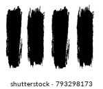 set of grunge lines. isolated... | Shutterstock .eps vector #793298173