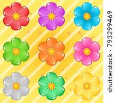 collection flowers puzzle cute...
