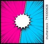 boom silhouette explosion.... | Shutterstock .eps vector #793300828