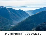 view on valley with fog in... | Shutterstock . vector #793302160