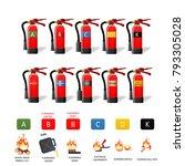 fire extinguisher different... | Shutterstock . vector #793305028
