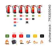 fire extinguisher different... | Shutterstock . vector #793305040