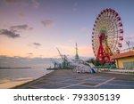 skyline and port of kobe in... | Shutterstock . vector #793305139