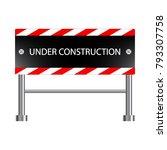 under construction icon ... | Shutterstock .eps vector #793307758
