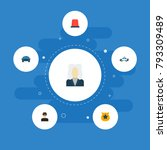 icons flat style flasher siren  ... | Shutterstock .eps vector #793309489