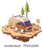 vector isometric classic... | Shutterstock .eps vector #793312204